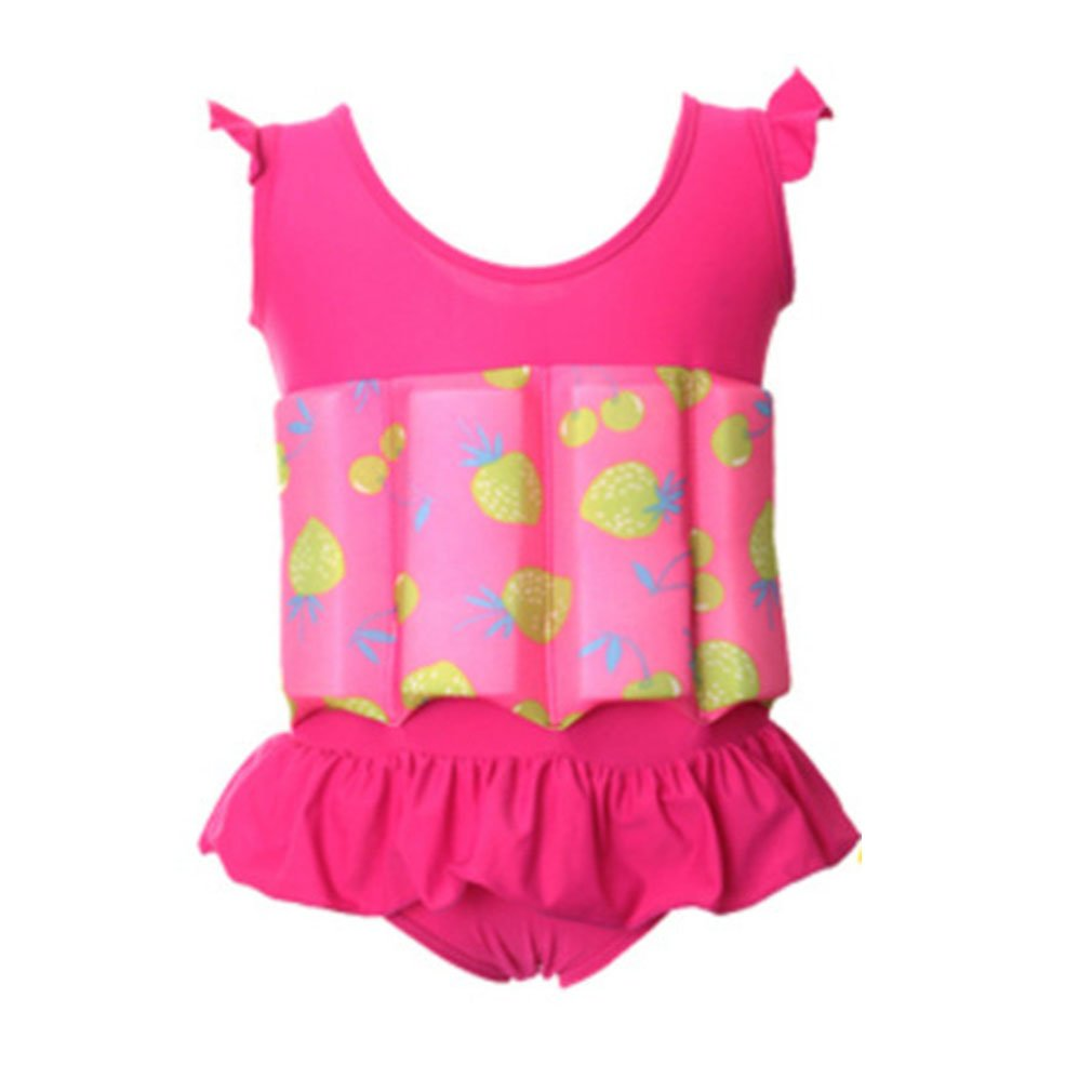 EBRICKON Children Professional Buoyant Swimming Suits Cute Printed Boys and Girls Buoyancy Swimwear One-piece Swimsuits