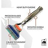 GBS Men's Heavy Duty Handle Chrome Shaving Razor - 5 Blade technology