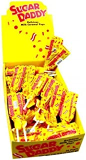 product image for Sugar Daddy Caramel Pops, Small size, 48 count display box by SUGAR DADDY