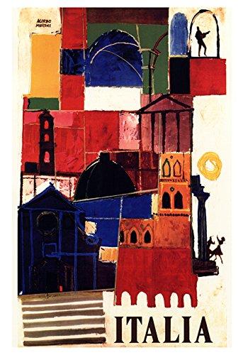 Amazon com: Vintage Italian Travel Poster, Italia, Rome