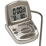 Taylor Digital Oven Thermometer and Timer with  Stainless Faceplate