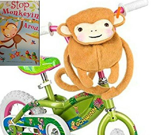 cuddly-monkey-handlebar-saddlebag-carrier-schwinn-cycle-bag-monkey-story-book-bundle-2-items1-monkey