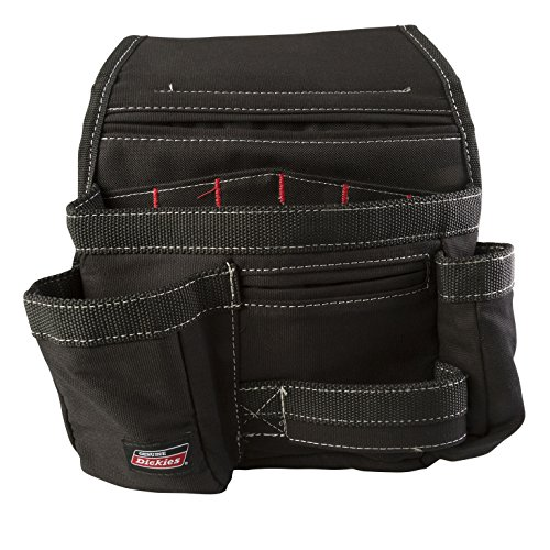 Dickies Work Gear 57073 Black 11-Pocket Tool Pouch (Belt Awp Suspenders With Tool)