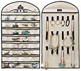 MISSLO Hanging Jewelry Organizer Holder 32 Pockets 18 Loops for...