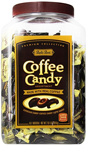 Bali's Best Assorted Coffee Candy Jar, 300ct Jar Latte Candy