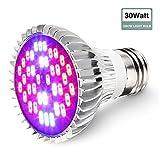 GLIME Led Grow Light Bulb,SMD 5730 Full Spectrum Bulb E27 Grow Plant Light Lamp for Flowering...