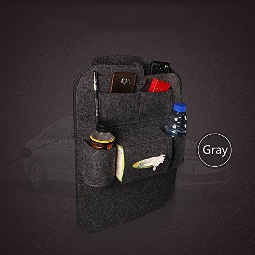 85%OFF Haosen Multifonction voiture banquette arrière poche Sac de rangement de voiture Accessoires Sièges auto, Protections de sièges (1 pièce / set Gris foncé)