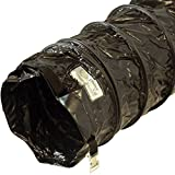 Rubber-Cal ''Air Ventilator Black'' Ventilation Duct Hose (Fully Stretched), 12-Inch by 25-Feet