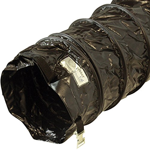 "Rubber-Cal ""Air Ventilator Black"" Ventilation Duct Hose (Fully Stretched) - 10-Inch by 25-Feet"