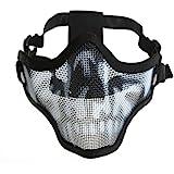 Generic Tactical Airsoft Wargame Guard Mesh Metal Half Face Mask