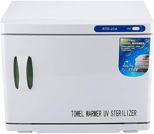 Blanco Mini Toalla de Calentamiento Gabinete de Desinfecci/ón Esterilizador Profesional M/áquina de Esterilizaci/ón para Sal/ón Spa Cuidado de Salud en el Hogar