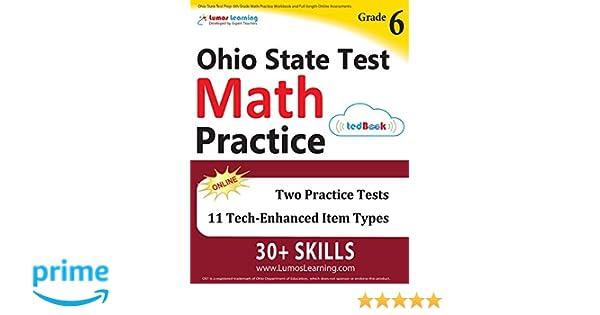 Ohio State Test Prep 6th Grade Math Practice Workbook And