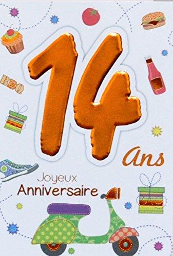 Age MV 69   2014 scheda di buon compleanno 14 anni adolescenti