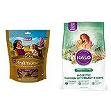 Halo Bundle Vegan Treat plus 10 LB Bag of Vegan Dog Food