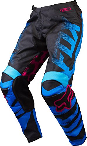 Fox Racing Kids Boots - Fox Racing 180 Kids Girls Off-Road Motorcycle Pants - Blue/Red / Size 5
