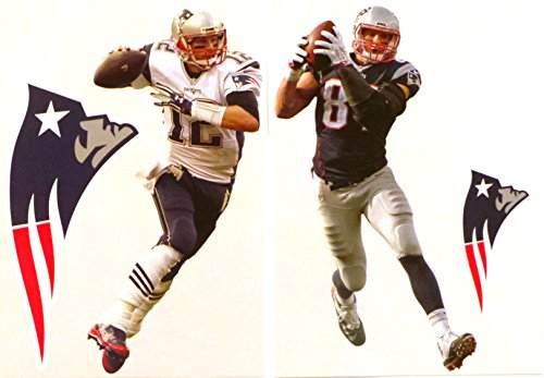 - FATHEAD Tom Brady and Rob Gronkowski Mini 2 New England Patriots Logo Official NFL Vinyl Wall Graphics 7