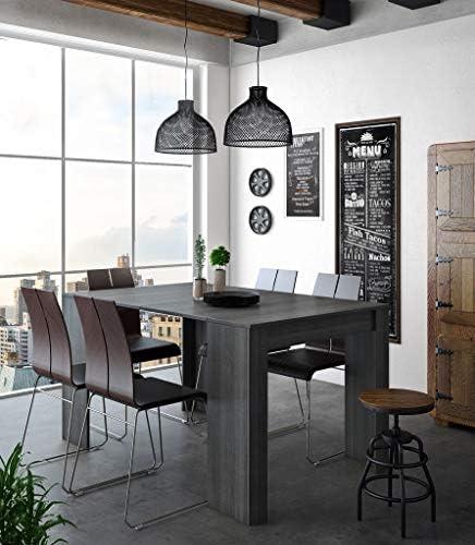 Goed Verkopen Comfort Home Consoletafel, uittrekbaar tot 140 cm, eetkamertafel en woonkamertafel, rechthoekig, kleur grijs, afmetingen gesloten: 90 x 50 x 78 cm. Tot 6 zitplaatsen.  v0kP3ue