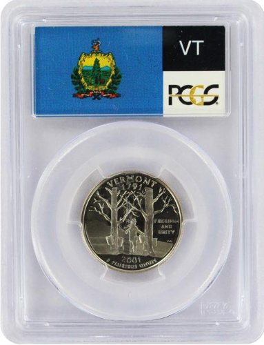 2001 Vermont State S Clad Proof Quarter PR-69 PCGS