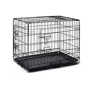 "42"" Pet Dog Cage Collapsible Metal Crate Kennel Portable Puppy Cat Rabbit House"