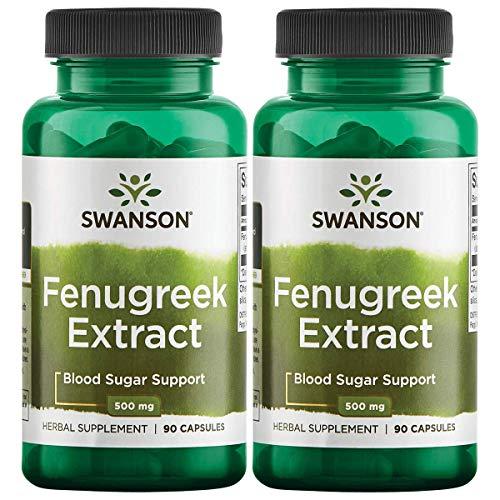 Swanson Fenugreek Extract 500 mg 90 Caps 2 Pack ()