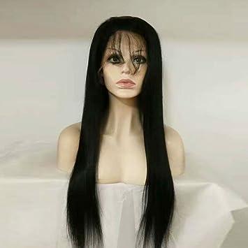 Amazon.com   Wholesale human hair wig 130% Density Unprocessed Brazilian  lace front wig Silky Straight Full Lace Human Hair Wig With Baby Hair (20  inches ... c2554232d