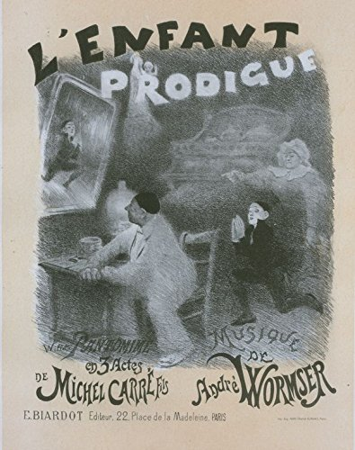 Affiche pour la pantomime 'l'Enfant prodigue'. Le Retour de l'Enfant Prodigue. (Acte III, Scene V.), 1896 | Historic Prints | Vintage Antique Poster Reproduction