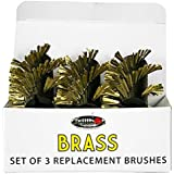 Grillbot GBB201 Replacement Brushes for Grill, Brass