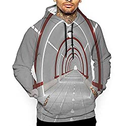 Unisex 3d Novelty Hoodies Outer Space Station With The Clean Walls Featured Surface Alien Astronomy Big Bang Ship White Red Sweatshirts For Women