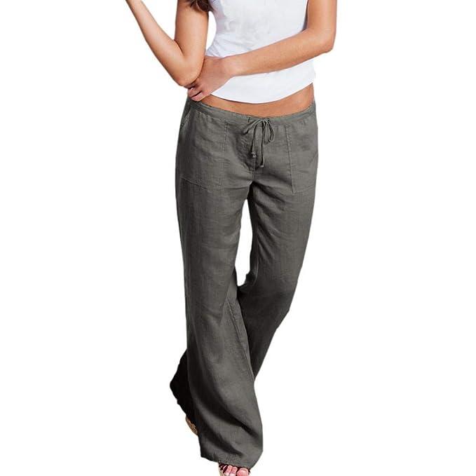 52789c7e55a LISTHA Harem Pants Plus Size Women Wide Leg Casual Vertical Trousers at Amazon  Women s Clothing store