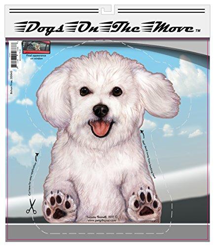 Bichon Sticker - Bichon Frise - Dogs on the Move Car Vinyl Window Decal Cling Sticker