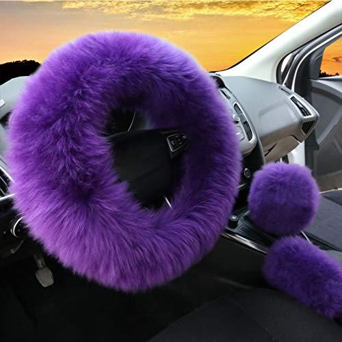 soft purple steering wheel cover - 5
