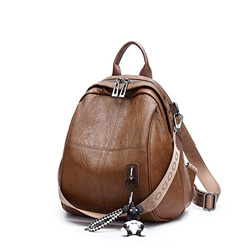 Fashion Simple Shoulder Bag Ladies Backpack Students' Backpack,Caramel by NUGJHJT
