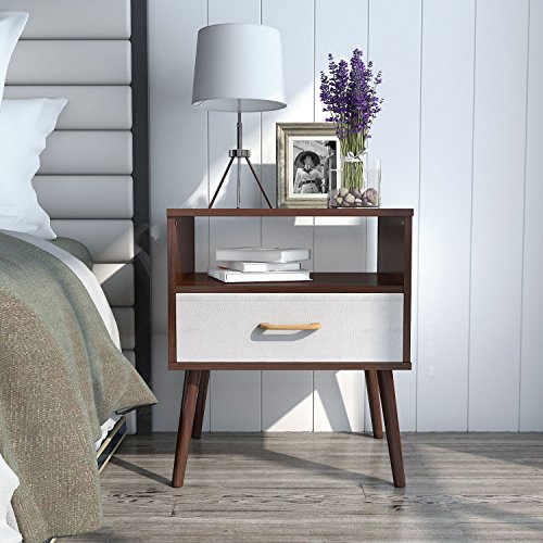 Lifewit Nightstand Side Table End Table Bedroom Living Room Table Cabinet with 1 Drawer