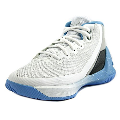 Under Armour PS Curry 3 Youth US 12 White Basketball Shoe