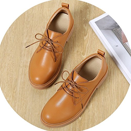 CM Tacco Pumps 35 Donna 3 Shoes Stringata Scarpa Nero Rosso Work Office Marrone Oxford Faux Beige Kotzeb Marrone Casual 40 Derby Scarpe Britannico Moda Pelle BaOwEZq