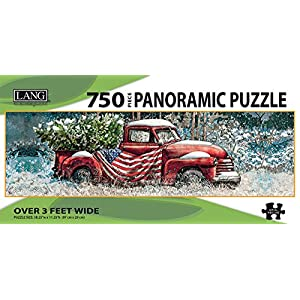 Lang Flag Truck Panoramic Puzzle 750 Piece By Perfect Timing Puzzles