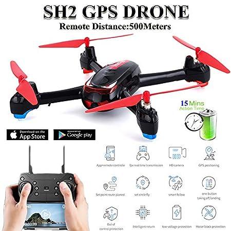OUYAWEI SH2 RC Drone GPS con cámara HD 1080P Gran Angular ...