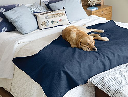 Orvis Reversible Dog Blanket / Only Reversible Dog-proof Throw, Navy, Large by Orvis
