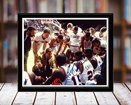 Coach Jim Calhoun Autograph Replica Print - Syracuse Orangemen - 5x7 Desktop Framed Print - Landscape