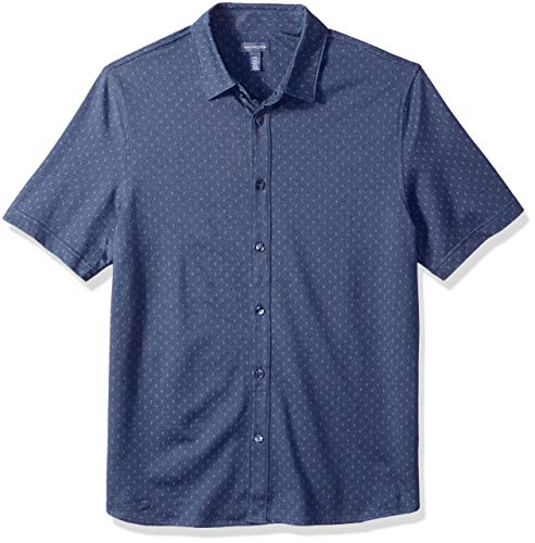 e Big and Tall Never Tuck Short Sleeve Shirt, Sea Navy, 3X-Large Tall ()