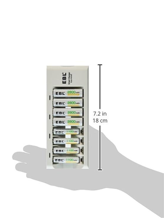 EBL® AA AAA NI-MH batería pilas/baterías con cargador ...