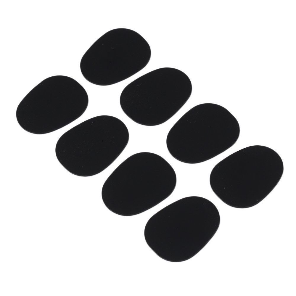 Yibuy 0.8 mm Black Type1 Oval Shape Mouthpiece Patches Pads Cushions for Sax Clarinet Alto Saxophone Pack of 8 Yibuy10