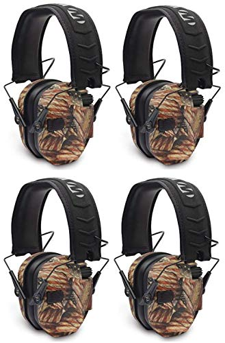 Walkers Razor Slim Electronic Shooting Muffs 4-Pack Bundle, USA 2nd Amendment (4 Items) by Walker's Game Ear
