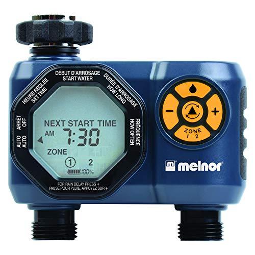 Melnor 15439-HDC Digital 2-Zone Water Timer, 2 Zone, 2 Zone