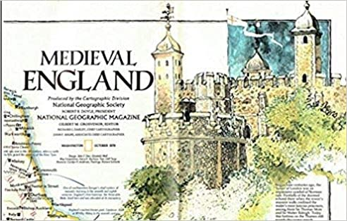 Map Of England Castles.Medieval England British Isles Map National Geographic Society