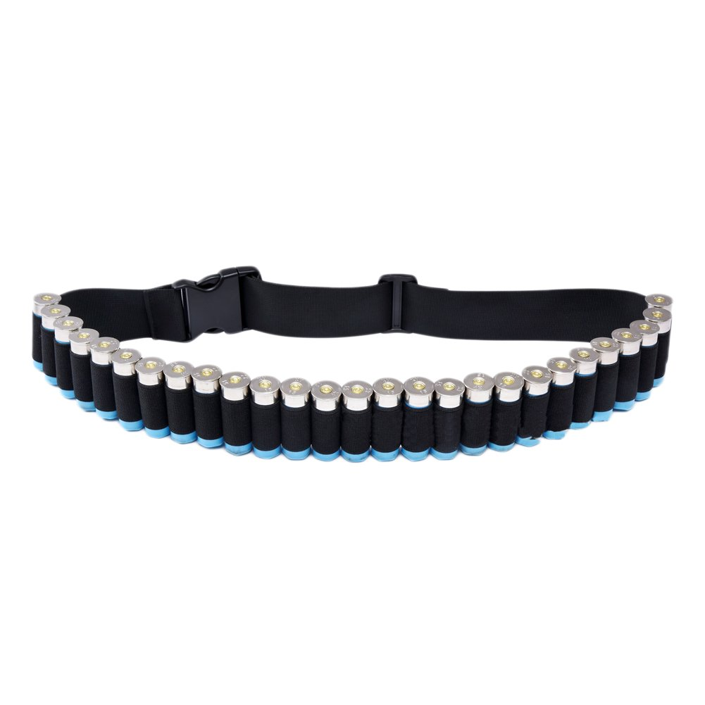 CyberDyer Outdoor Military Shotgun Shell Bandolier Belt Nylon Ribbon Belt Holds 29 Bullets