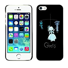 MldieromSmartphone Protective Case Hard Shell Cover for Cellphone Apple Iphone 5 / 5S / CECELL Phone case / / Ghosts Funny Kids Black Cat Toy /