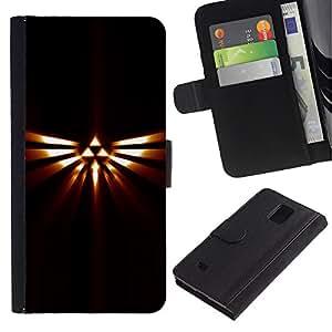 YiPhone /// Tirón de la caja Cartera de cuero con ranuras para tarjetas - Tribal Triángulo Totem - Samsung Galaxy Note 4 IV