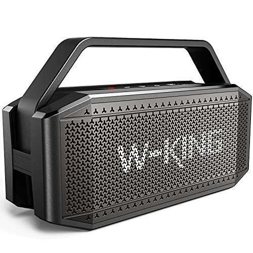 60W RMS (80W piek) Bluetooth-luidspreker met punch Chunky Bass, V5.0 draagbaar, IPX6 waterdicht draadloos, 40H speeltijd…