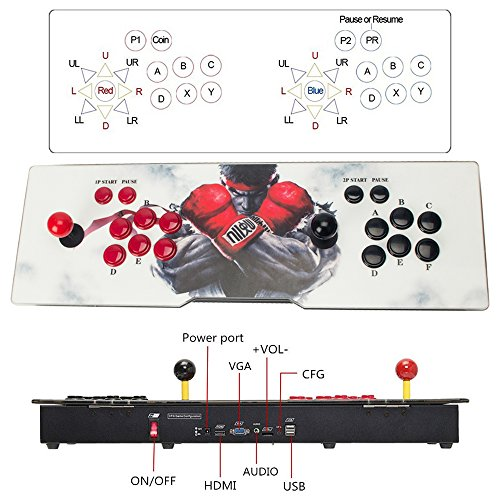 DODOING Double Joystick and Buttons Arcade Video Game Console 5S - 2